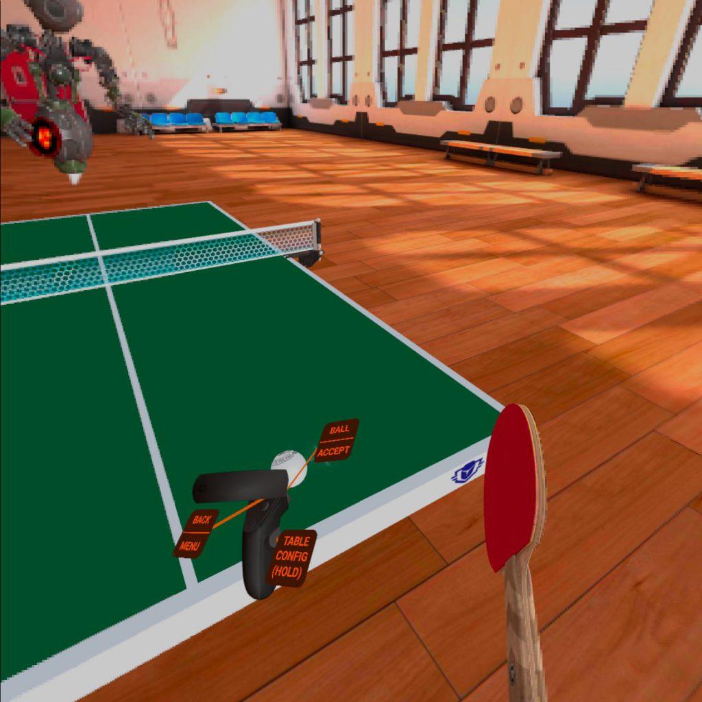 テレワークの運動不足にぴったりなVR卓球
