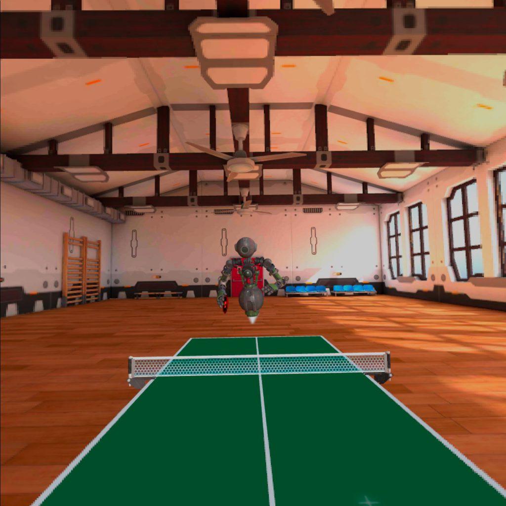 在宅勤務の運動不足にぴったりなVR卓球